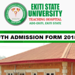 School of Nursing EKSUTH Admission Form 2018/19 Academic Session Out