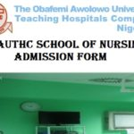OAUTHC School of Nursing Admission Form 2019/2020 Academic Session Out 10