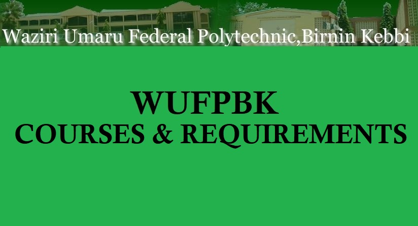 List of Courses Offered in WUFPBK and Entry Admission Requirements 1